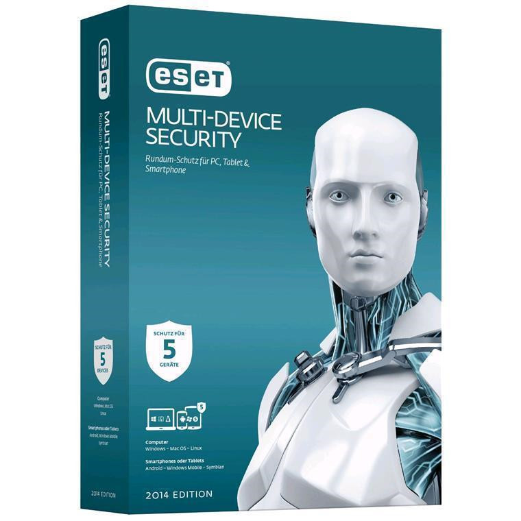 ESET Multi-Device Security 5-Pack -ESET Multi-Device Security Protect any combination of up to 5 devices. PCs, Macs, Android smartphones and Android tablets.