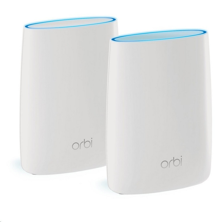 NETGEAR Orbi RBK50 Mesh Wi-Fi System - 2 Pack (RBR50 + RBS50), MU-MIMO, Tri-Band AC3000, 4 x Gigabit Ethernet Port on each Mesh Router/Point