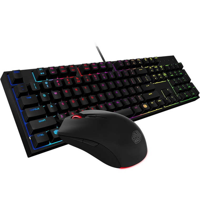 Cooler Master Masterkeys Lite L Keyboard with Mouse Mem-chanical(Exclusive Switch) with RGB backlite include 3500dpi Gaming Mouse