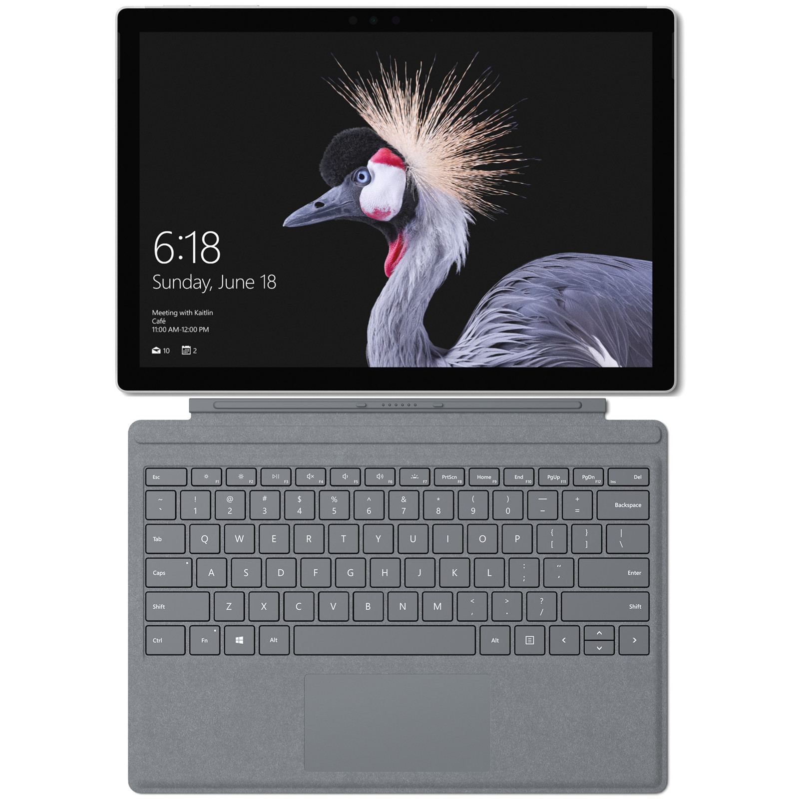 Microsoft Surface Pro (Consumer Mode) - Intel i5 8GB 256GB WIN 10 Pro (No Pen) Bundle with Platinum Keyboard Cover - Newest